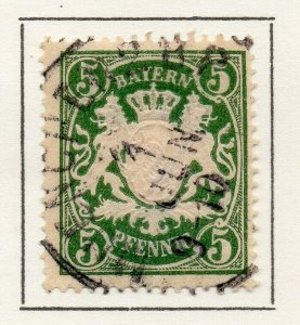 Bayern Bavaria 1890 Early Issue Fine Used 5pf. NW-120736