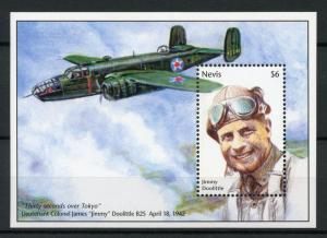 Nevis Stamps 1995 MNH WWII WW2 VE Day End World War II Jimmy Doolittle 1v S/S
