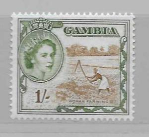 Gambia 160 1sh Woman Farming single MNH