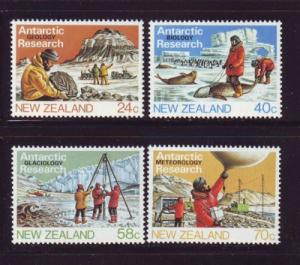 New Zealand Sc 791-4 1984 Antarctic Research stamps NH