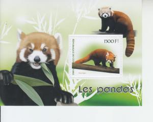 2017 Ivory Coast Red Panda SS (Scott NA) MNH