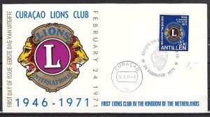 Netherlands Antilles. Scott cat. 328. Lion`s Club issue. First day cover. ^