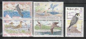 1993 St. Pierre and Miquelon - Sc C69-73 - MNH VF - 5 single - Migratory birds