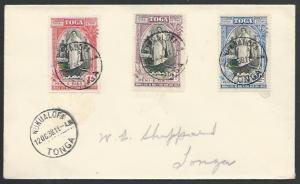 TONGA 1938 20th Anniv set on  FDC - Nukualofa cds..........................83592