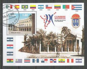 Cuba 1999 UPU, perf. sheet, used AA.059