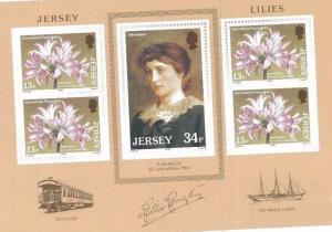 1986 LILLY LANGTRY Souvenir Sheet #392a MNH - Jersey E1