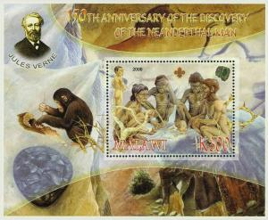 Malawi Anniversary of Discovery of Neanderthal Man Pre Historic Souvenir Sheet M