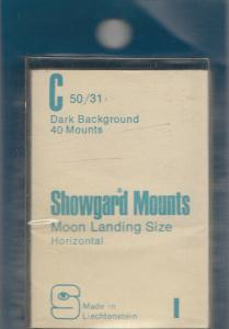 SHOWGARD BLACK MOUNTS C 50/31 (40) RETAIL PRICE $3.95