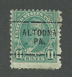 1931 USA Altoona, PA  Precancel on Scott Catalog Number 692