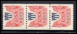 CVP31 33c Very Fine MNH Dry Gum Strip of 3 PA5210