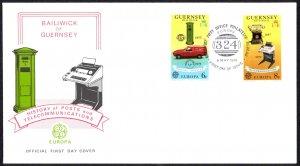 Guernsey Sc# 189-190 FDC 1979 5.8 Europa