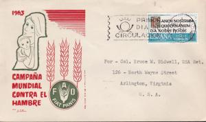United Nations Food & Agricultural Organization 1963.Spain World  Hunger FDC