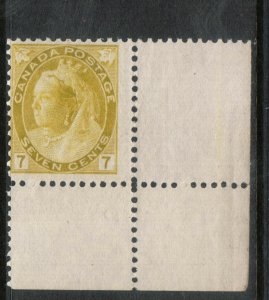 Canada #81 Mint Fine Never Hinged Lower Right Margin Single