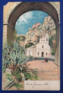 Monaco Postcard With Stamp Postmarked in 1910 (HP23)