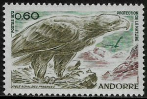 Andorra, French #212 MNH Stamp - Bird - Golden Eagle