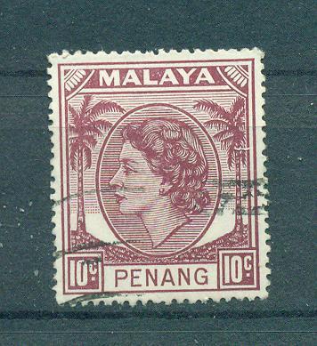 Malaya - Penang sc# 35 used cat value $.25