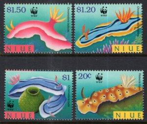 Niue 729-732 Marine Life Sea Slugs MNH VF