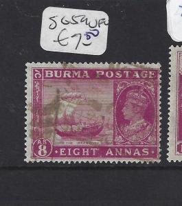 BURMA (P1312B) KGVI ON INDIA  8A  SG 59   VFU