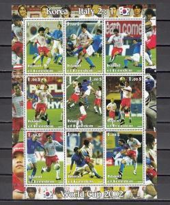 Isle of Freedom, 2002 Cinderella issue. World Cup Soccer sheet. Italian Team. ^