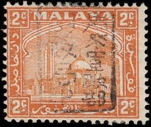 Malaya / Selangor Scott N3 Variety Gibbons J208 Variety Mint Stamp