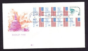 1623a Unaddressed CoverCraft booklet pane FDC