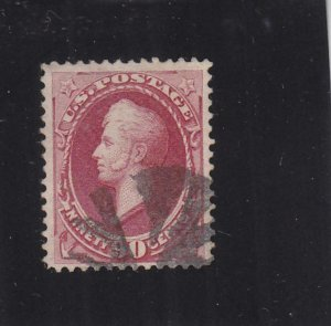 90c Perry Banknote, Sc #155, Used (32372)