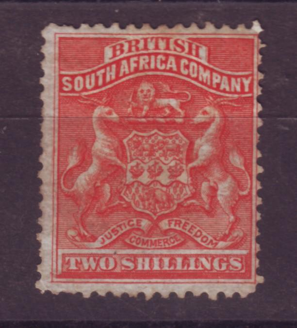 J17035 JLstamps 1890-4 rhodesia  mng #10 coat of arms $77.50 scv mint