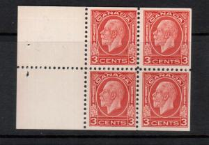 Canada #197d Mint Fine Original Gum Hinged Booklet Pane