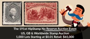 The 191st HipStamp No Reserve Auction Event