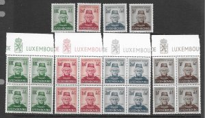 Luxembourg  B133-5 MNH cpl set x 5 see desc. 2020 CV $17.50