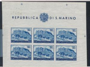 San Marino C62b Neuwertig Nh Souvenir Blatt, Imperf, Pferd