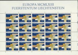 Liechtenstein # 379  Europa  1963  Full Sheet of 20  (1) Mint NH