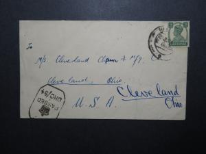 India 1944 Censor Cover to USA / Multi Censor Marks - Z12016