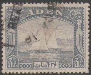Aden 19373½a grey-blue (Dhow) used