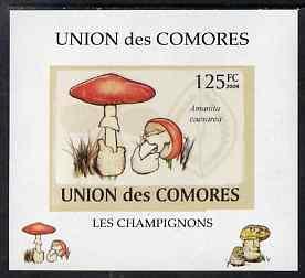 Comoro Islands 2009 Fungi #1 - 125 FC individual imperf d...