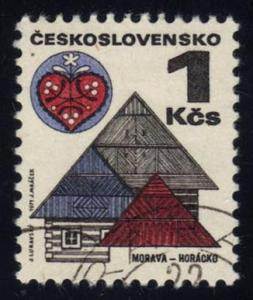 Czechoslovakia #1733 Roofs and Folk Art, CTO (0.25)