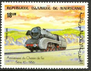 MAURITANIA 1985 18um Series 10 Last Fed. German Railways Locomotive Sc 581 MNH
