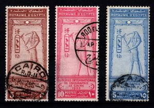 Egypt 1925 International Geographical Congress, Cairo Set [Used]