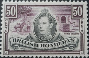 British Honduras 1938 GVI Fifty Cents SG 158 mint