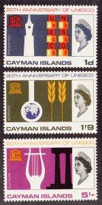 Cayman Islands Scott #186-188 MNH