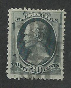 165 Used,  VF,  30c. Hamilton, scv: $140