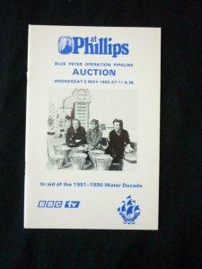 PHILLIPS AUCTION CATALOGUE 1982 BLUE PETER OPERATION PIPELINE AUCTION