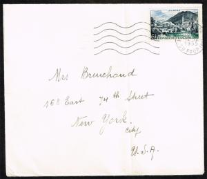 France #719 View of Lourdes on Cover