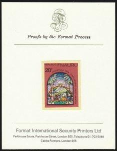 NAURU : 1975 Christmas 20c UNISSUED value imperf Proof . UNIQUE??