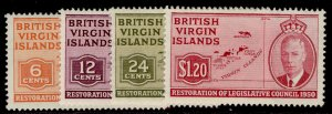 BRITISH VIRGIN ISLANDS GVI SG132-135, complete set, M MINT. Cat £6.