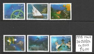 Portugal MNH 2621-6 Mysteries Of The Sea 1998 SCV 6.20