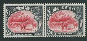 SOUTH WEST AFRICA 1931 2/6d fine mint pair - lightly hinged................43400