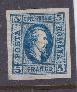 Romania an old 5Fr from 1865 MH
