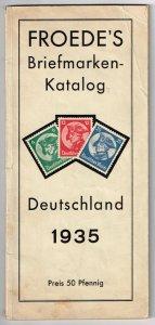 1935 Froede's Briefmarken Katalog - Deutschland