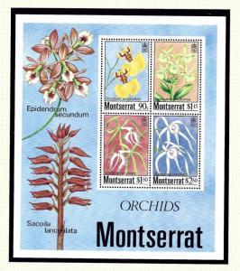Montserrat 557a MNH 1984 Orchids S/S